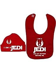 I Am A Jedi como mi madre antes Me Baby Feeding babero & gorro/Gorra De 0a 12meses