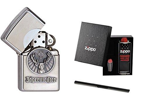 Zippo cacciatore capomastro logo 1900776 in confezione regalo con asta accendino Zippo