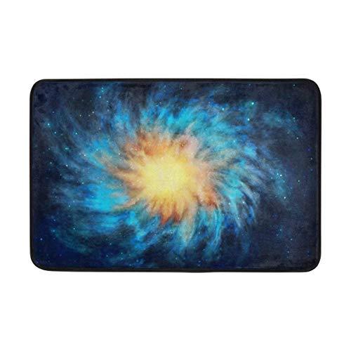 Uosliks Nebulosa de la Noche Estrellada Estera de la Puerta Entrada de