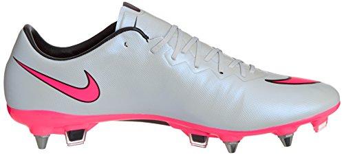 Nike Mercurial Vapor X Soft-ground Pro Herren Fußballschuh Grey (Wolf Grey/Black/Hyper Pink 60)