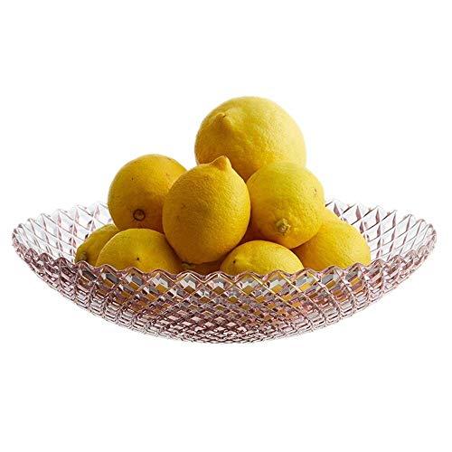 WMM-Fruit Bowls Twist Kristallglas Dekoratives Herzstück Obstschale, Crafts Home Holiday Geschenk Kristallschale 26 cm (Farbe : Pale Purple) -