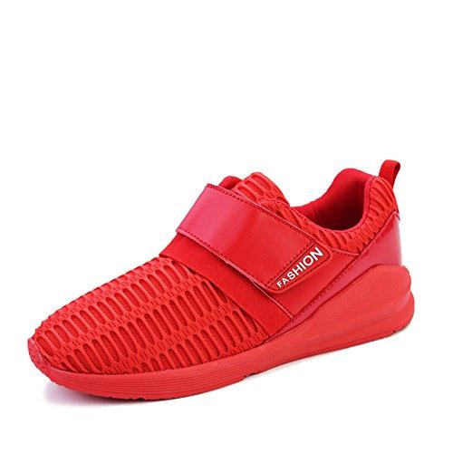 Piastra di fondo spesso in scarpe estive/Scarpe da uomo casual confortevole e traspirante Rosso