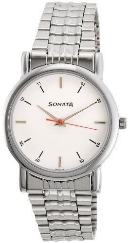 Sonata Analog White Dial Men's Watch - 7987SM03 image