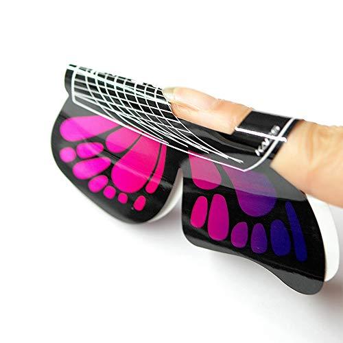 Kads 100Stck. in 1Rolle für große butterfly-shape Selbstklebende Gel Nail Erweiterung Nagel Formen für Acryl-Nägel Tipps -