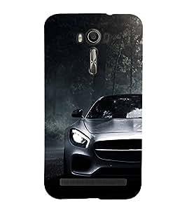FUSON Sports Car In Forest 3D Hard Polycarbonate Designer Back Case Cover for Asus Zenfone 2 Laser ZE500KL (5 Inches)