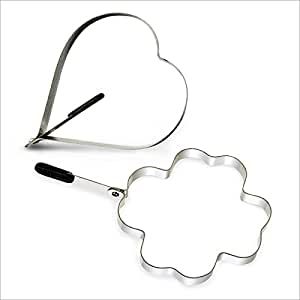 Moules pour oeuf au plat anneaux en forme de coeur et - Emporte piece oeuf au plat ...