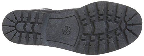 Jana 25206 Damen Combat Boots Grau (BLACK 001)
