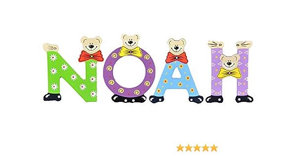 Playshoes Kinder Holz-Buchstaben Namen-Set Nelly Sortiert