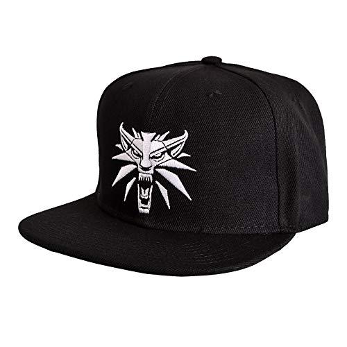 Gorra de béisbol medallón Witcher Wolf negro