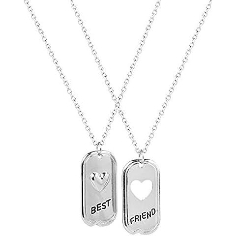Lux accessori Best Friends Forever BFF Cuore Ciondolo a forma di cuore collane. (2pc)