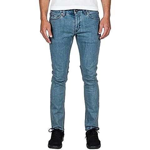 Volcom 2X4 Denim - Pantalón vaquero para hombre, color azul, talla 34/34