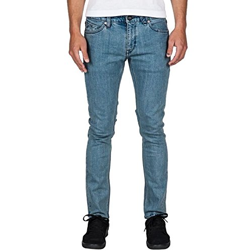 Volcom Herren A1931510 Jeansstoff, Grau, 28 Cintura x 30 = EU 42 true black vintage