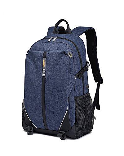 VERTAST Laptop-Rucksack-Geschäft Taschen Schule Tasche für College-Reise-Rucksack für 17-Zoll-Laptop und Notebook Blau