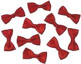 30 Fiocchi in tessuto rosso