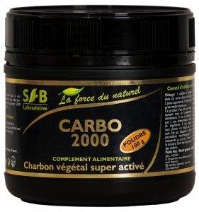 súper carbón activado Carbo 2000- 100g jar - laboratorios Sfb
