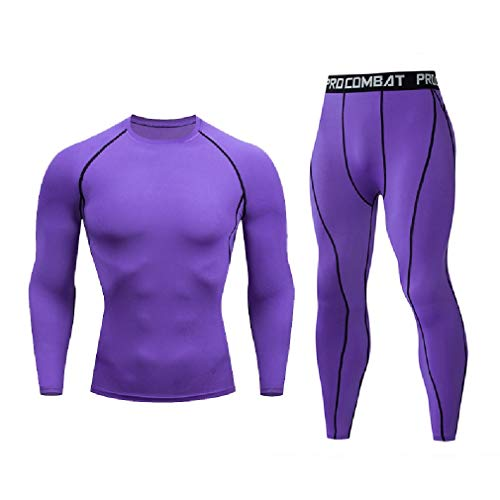 CuteRose Men's Trousers Sports Quick Dry Regular Fit Compression Activewear Purple XL Juicy Velour Hoodie