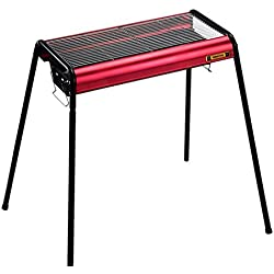 Barbecue, Barbecue à charbon portatif Barbecue au camping Ustensile de barbecue - 64x35x82cm -Red