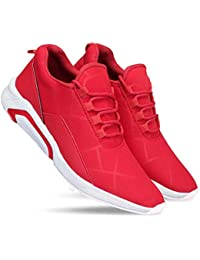Zenwear Men's Canvas Red Lace-Up Sports Shoes