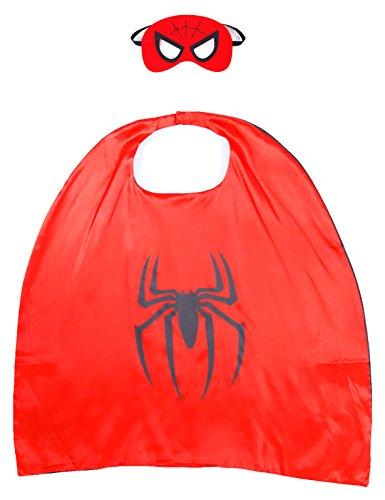 Capa de Superman Batman Spiderman Capitán América para Niños con Máscara - Spiderman