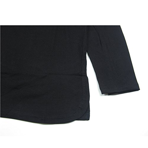 VFIVE UNFOUR Herren Langarmshirt Black and right-angle hem