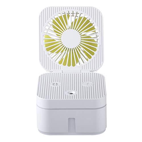 Syeytx Fan Luftbefeuchter mit Atmosphärenlampe Tragbarer Luftreinigungs Luftbefeuchter Ventilator Mini Ventilator Tragbarer Ventilator für Baby, Weihnachten, Haushalt, Outdoor und Büro