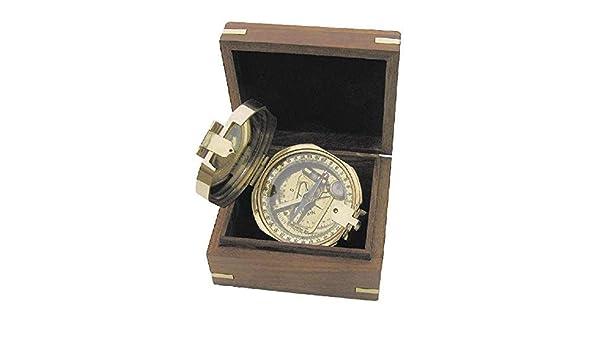 linoows G4275: Brunton Kompass, Tischkompass aus poliertem Messing ...
