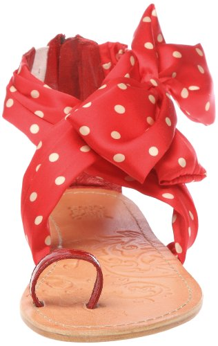 Colors of California Sandalo Con Tomaia In Foulard, Chaussures basses femme Rouge