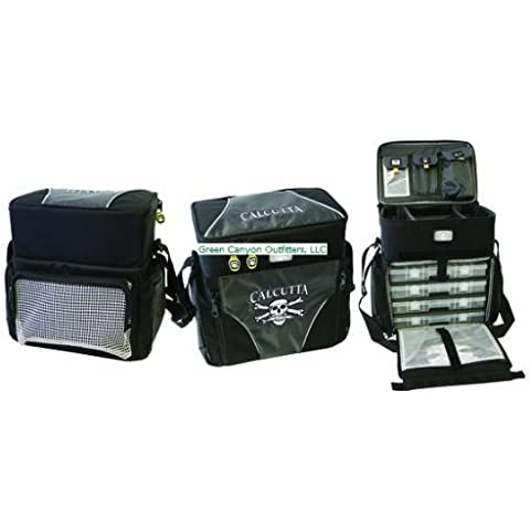 Calcutta CT4010WC Rolling Tackle Bag with Five Removable 370 Tackle Trays, Large by Calcutta Tools and