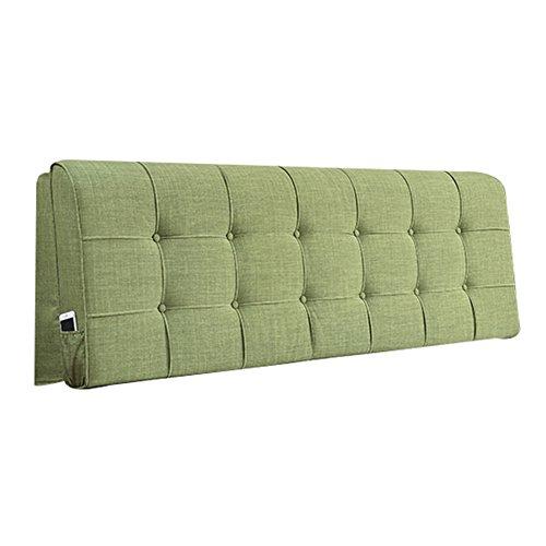 RENJUN Nachttisch Kissen Rückenlehne, weich, Tatami ohne Bett, Kopf, waschbar, für EIN Schlafzimmer Doppelbett, Bettwäsche, Kunstbett, Kopfkissen, Baumwolle und Bettzeug, grün, 120x10x58cm -