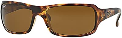 Ray Ban RB4075 Havana/Crystal marrón Gafas de sol polarizadas (RB4075-642-57-61-16...