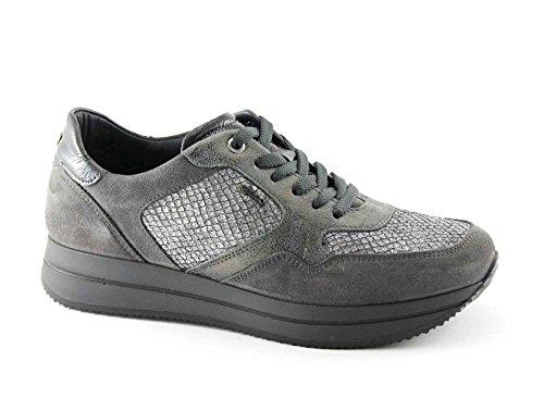 IGI&CO 67424 grigio scarpe donna sportive lacci sneakers Grigio