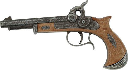 """(J.G.Schrödel """"Derringer"""": Spielzeugpistole für Zündplättchen, ideale Cowboy-, Piraten- und Faschingsausrüstung, 21.5 cm, silber / grau (501 1681))"""