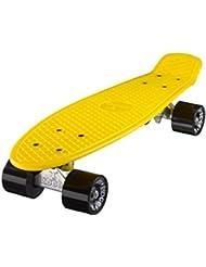 Ridge Retro 22 - Skateboard, color amarillo y negro, 55 cm (22'')