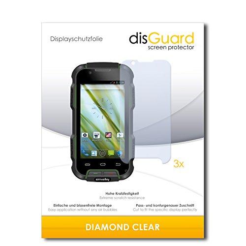 3 x disGuard® Schutzfolie Simvalley Mobile SPT-900 V2 Displayschutz Folie
