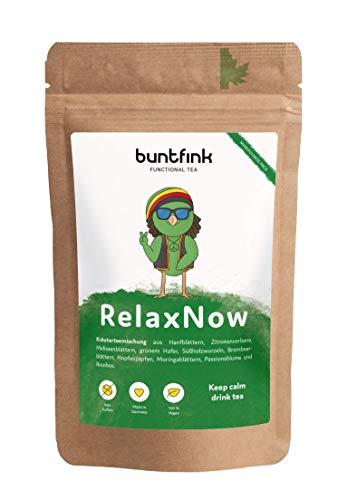 """""""RelaxNow"""" Tee mit Moringa + Passionsblume + Melissenblätter + Rooibos, 100% natürlicher Kräutertee aus Deutschland, 60g loser Tee"""