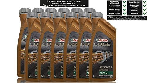 Castrol Edge Supercar 10W-60 Olio Motore lubrificante per Motore Auto Confezione da 12x 1 litro