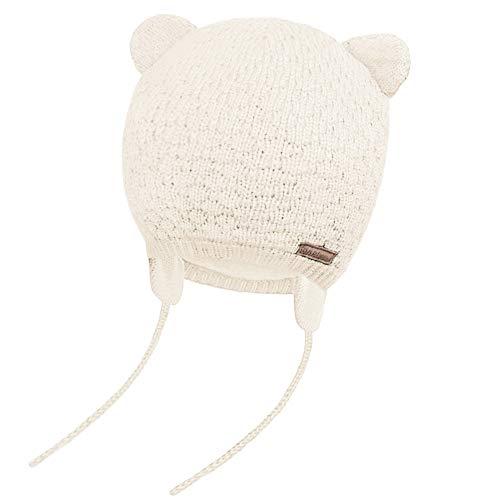 JOYORUN Unisex - Baby Mütze Beanie Strickmütze Unifarbe Wintermütze Weiß L