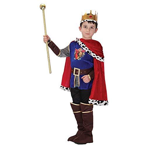 oween Kostüm, Prinz Rolle Bühne Kleidung Kinder Leistung Kostüm Männlich,Blue,L ()