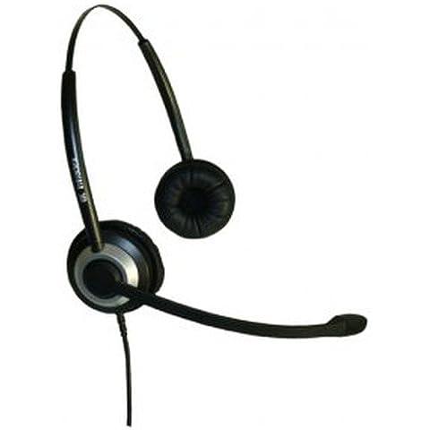 Imtradex BasicLine TB Headset binaurale per Cisco - IP Phone SPA 504G telefono, via cavo con NC, ASP e connettore QD