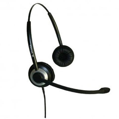 Imtradex Bundle BasicLine TB Headset binaural + Noisehelper pour VoIP- et PC-Entertainment, Chat vacillé avec NC, ASP et Soundcard-Connector