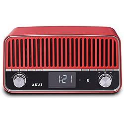 Akai Radio vintage Bluetooth APR500RD rojo