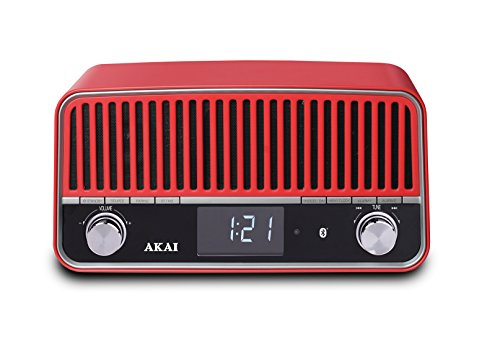 Akai Radio vintage Bluetooth APR500RD rojo