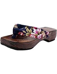 Manadlian ♥ Damen Sandalen ♥ Sommer Frauen Clog Holz Hausschuhe Flip Flops  Sandalen 3da5bddddf