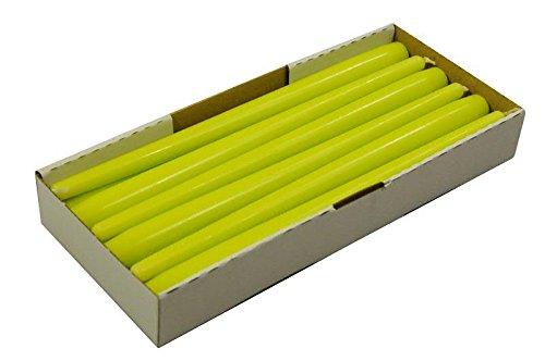 Schlanke & Stabile Spitzkerzen - Limone (Pastell Grün) - Länge 30cm / Ø 2,3cm - 12 Stück im Pack - Hohe Brenndauer (10 Stunden) & Einwandfreies Brennverhalten - Altarkerzen / Leuchterkerzen - RAL Zertifiziert & Gleichmäßiges Abbrennen