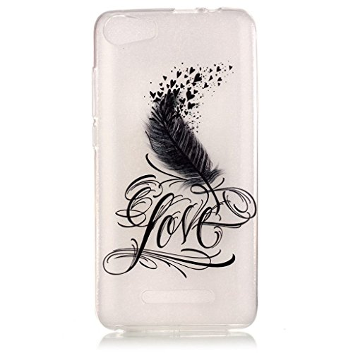 iPhone 5, iPhone 5S, iPhone se Coque en TPU £ ¬ w-pigcase coloré d'impression Perfect Fit Coque en gel silicone TPU Doux Transparent Coque pour Iphone 5/5s/SE love feather