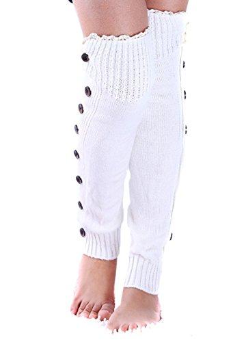 Fletion - Leggings sportivi -  donna Bianco - bianco