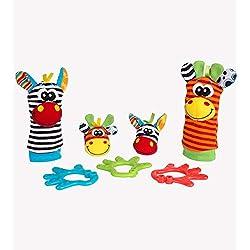 Playgro - Set con sonajero pies y manos y mordedor