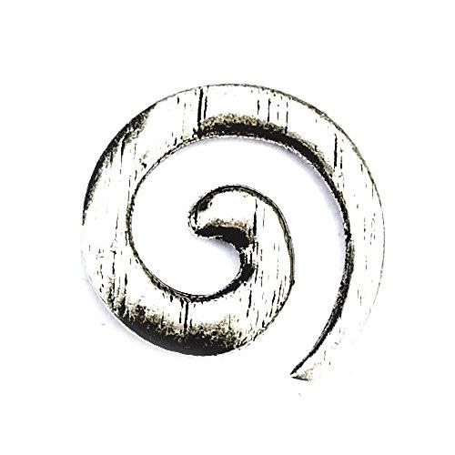 Spiral Haken Gewandschließe im Keltisch Stil für historische Gewänder, Taschen