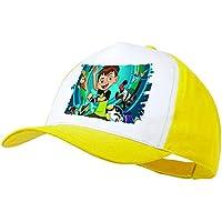 f0d484efc8dbe MERCHANDMANIA Gorra Amarilla Ben Ten Aliens Dibujos NIÑO Color ...