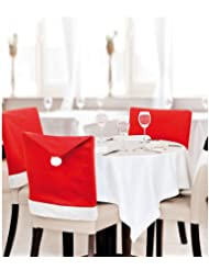 eBuyGB® Pack di 6 Santa Hat pranzo coprisedie - decorazione di Natale Xmas Party cena